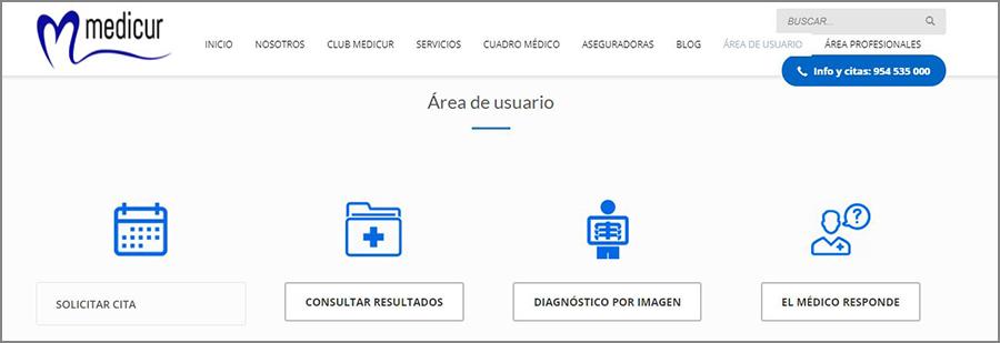 area-usuario nueva web medicur